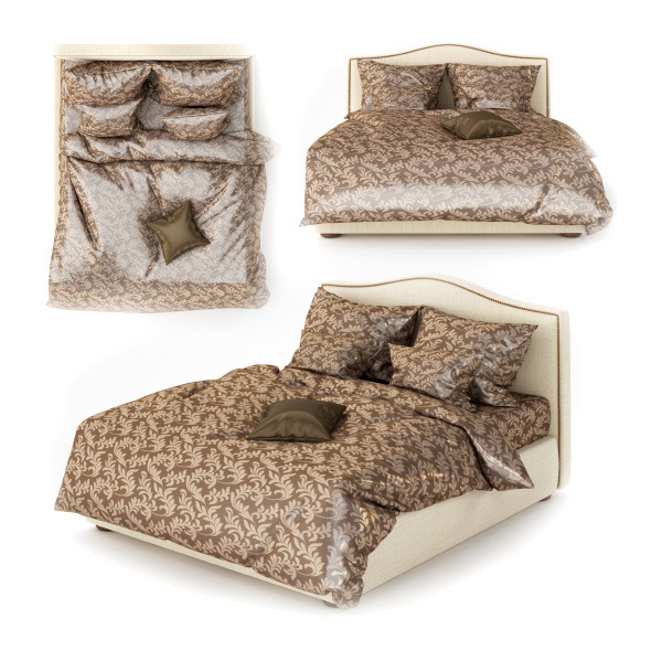 The bed and linens  - 3DOcean Item for Sale