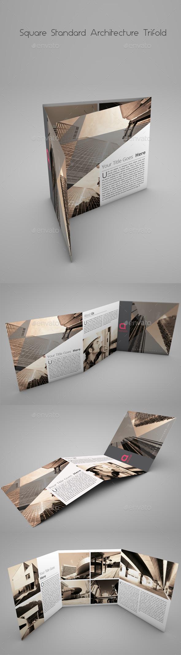 Square Standard Architecture Tri-Fold - Catalogs Brochures