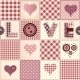 Patchwork with the Word Love. - GraphicRiver Item for Sale