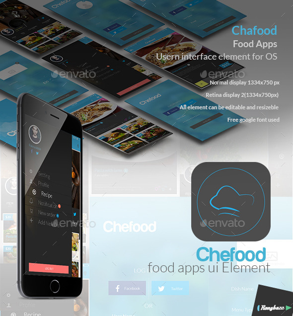 Food Apps UI Element - User Interfaces Web Elements
