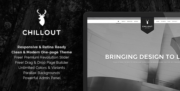 Chillout – Parallax One-Page WordPress Theme