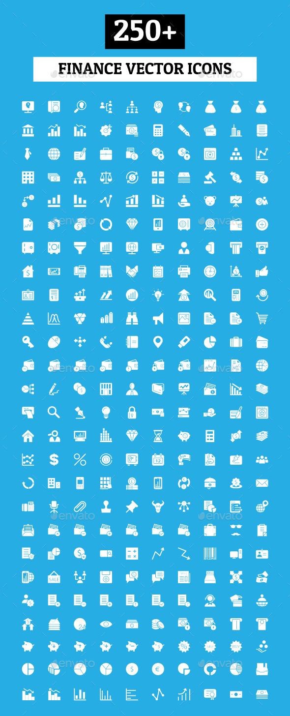 250+ Finance Vector Icons - Business Icons
