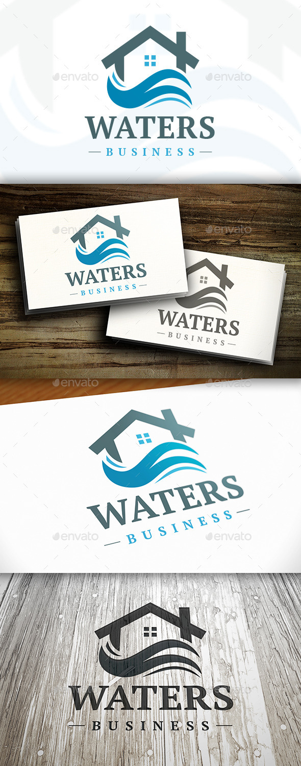 Water House Logo - Buildings Logo Templates