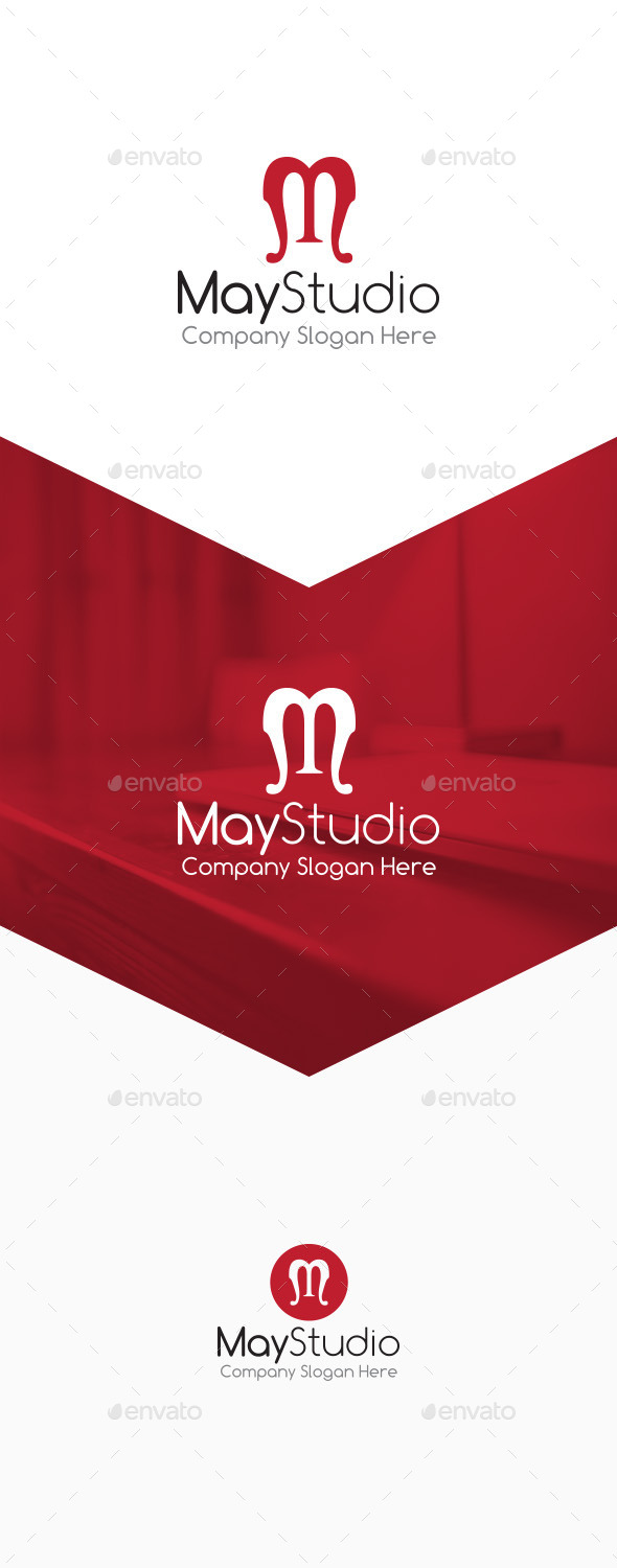 May Studio - M Letter Logo - Letters Logo Templates
