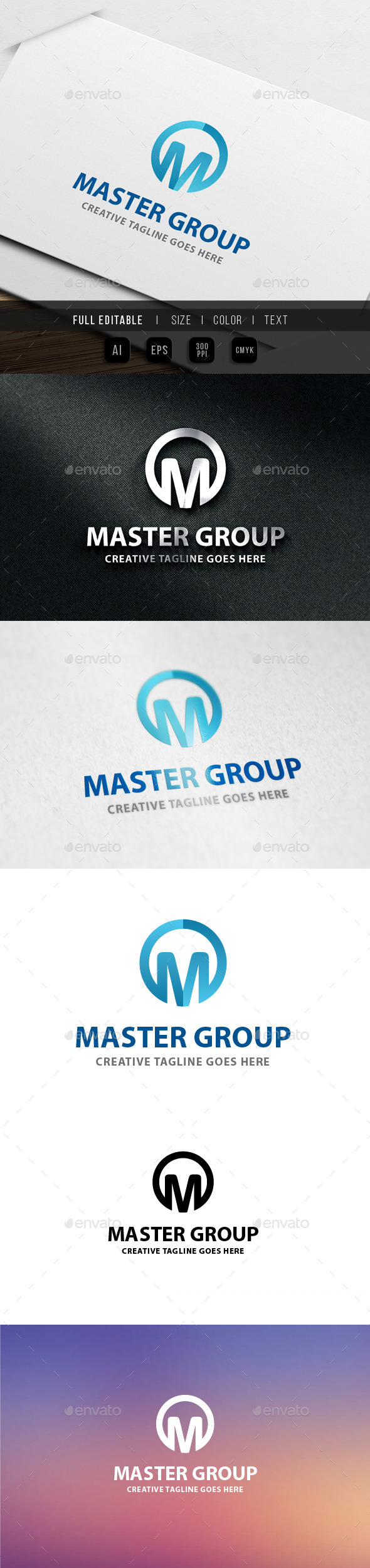 Master Group - Letter M - Letters Logo Templates