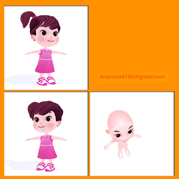 Cartoon Girl - 3DOcean Item for Sale