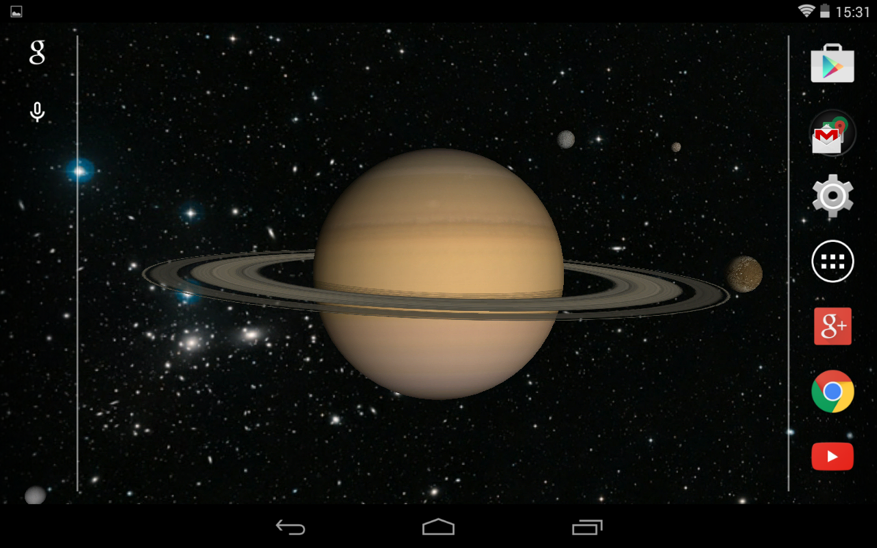 Planets And Satellites 3D Live Wallpaper