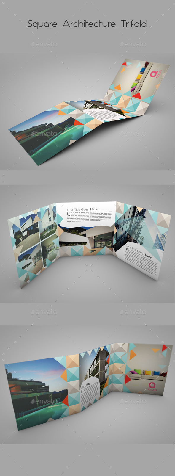 Square Architecture Trifold - Informational Brochures