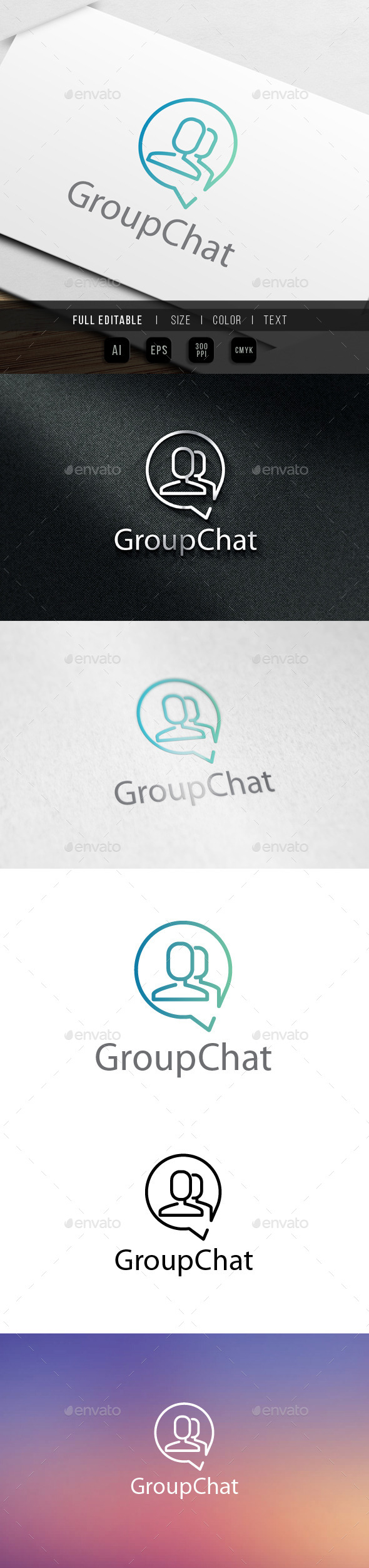 Group Chat logo - Humans Logo Templates