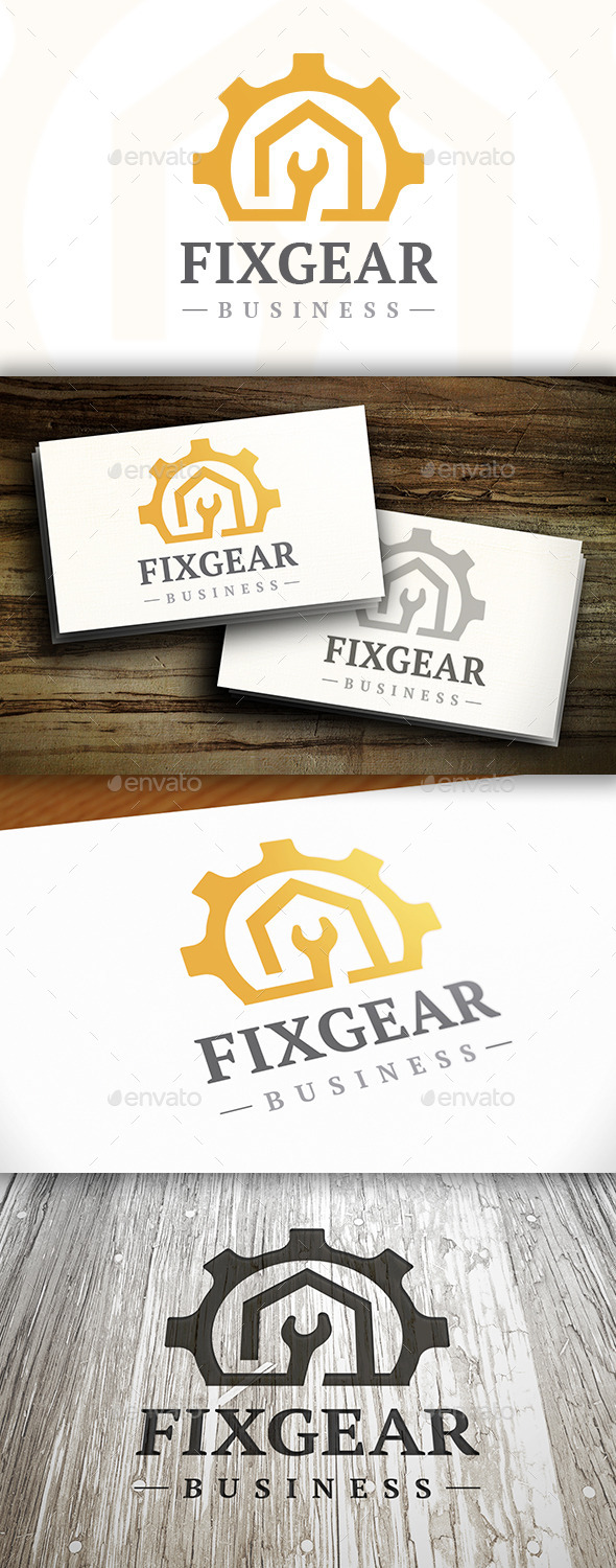 Fix Gear Logo - Symbols Logo Templates