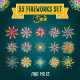 55 Fireworks Set - GraphicRiver Item for Sale