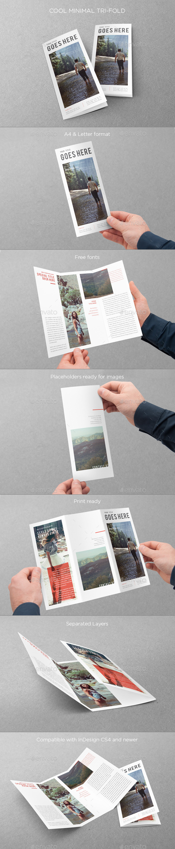 Cool Minimal Trifold - Brochures Print Templates