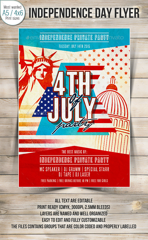 4th Of July Party Flyer 2 - Clubs & Parties Events