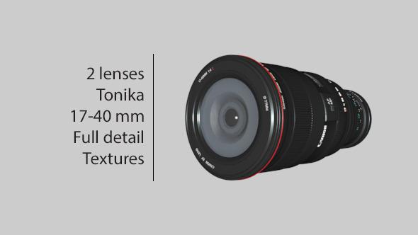 Lenses - TOKINA & 17-40 mm - 3DOcean Item for Sale