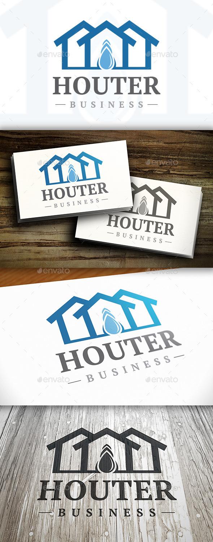 Drop House Logo - Buildings Logo Templates