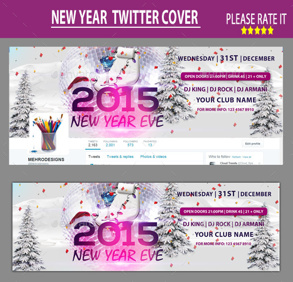 New Year Twitter Cover - Twitter Social Media