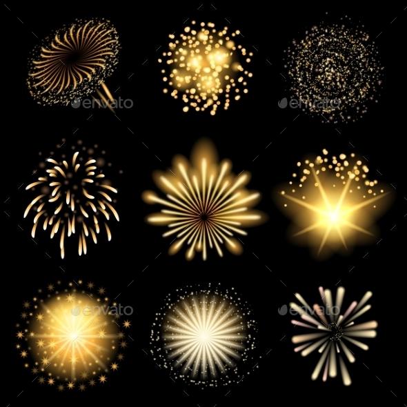 Fireworks Set - Decorative Symbols Decorative