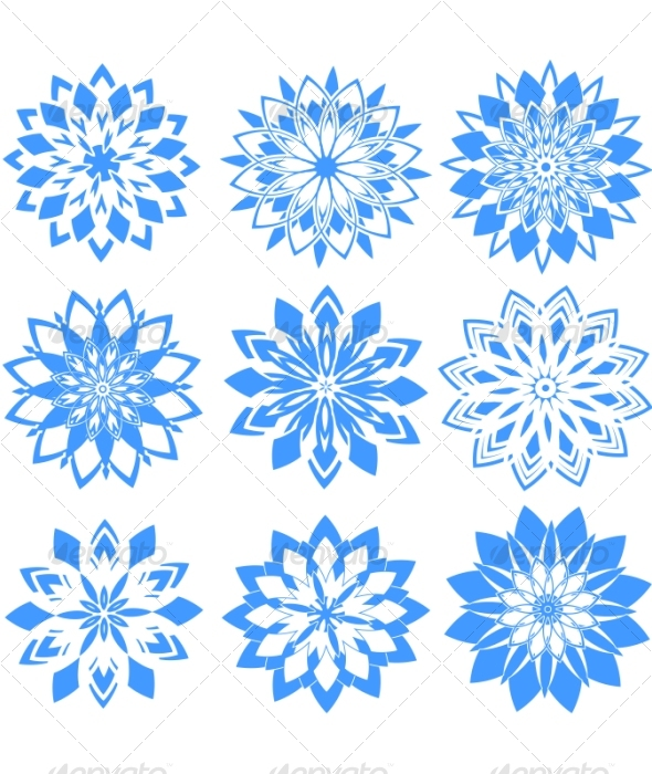 Set of snowflakes - Seasons/Holidays Conceptual