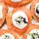 salmon canapes with traditional Russian caviar - PhotoDune Item for Sale