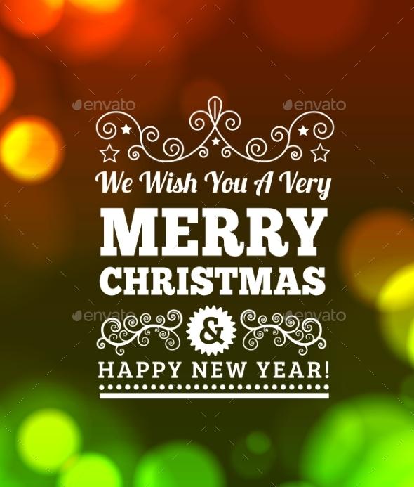 Vintage Merry Christmas Background - Christmas Seasons/Holidays