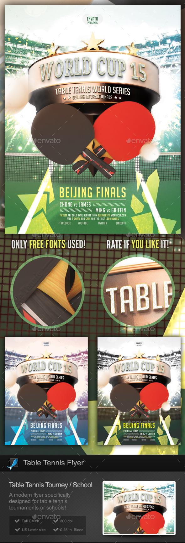 Table Tennis Tournament / School Flyer - Sports Events
