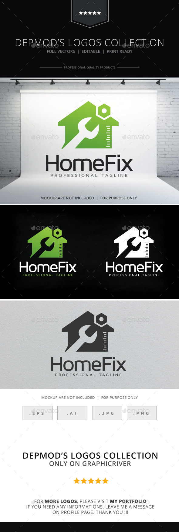 Home Fix V.02 Logo - Buildings Logo Templates