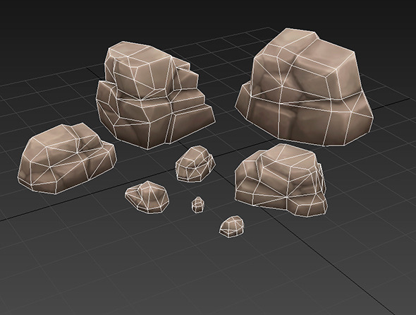Low Poly Rock Formation