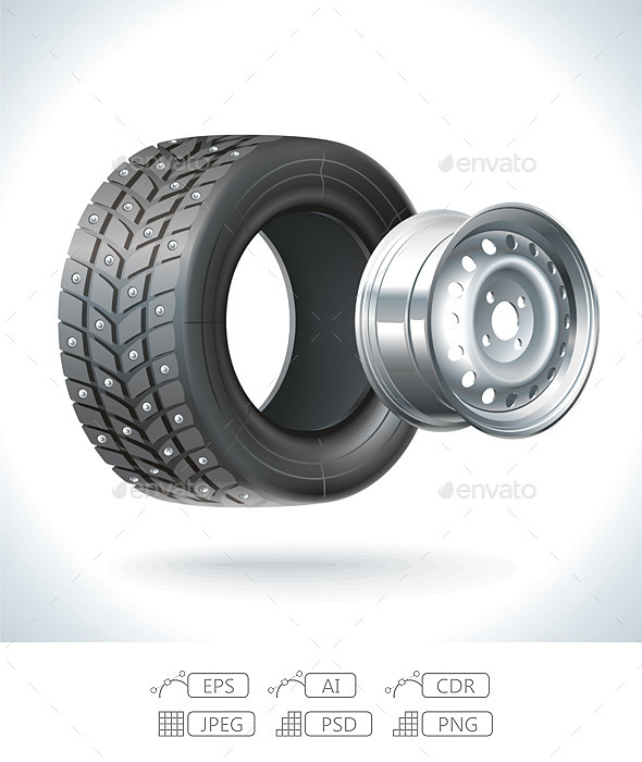 Winter Car Tire - Services Commercial / Shopping