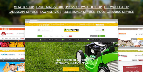 123 Garden - Gardening / Flower Shop & Landscape / Cleaning / Construction Service Theme - WooCommerce eCommerce