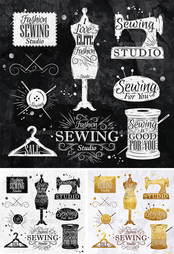 Sewing Symbols - Decorative Symbols Decorative