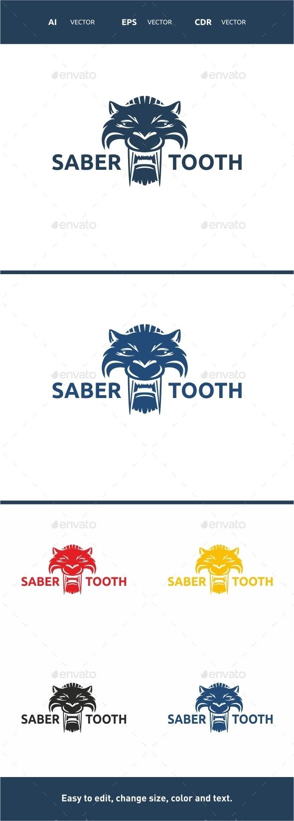 Sabertooth Logo - Animals Logo Templates