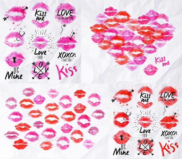 Prints of Lips - Valentines Seasons/Holidays