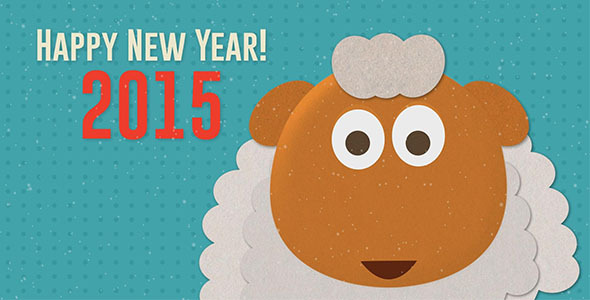 Happy new year greeting from sheep by windksr videohive play preview video m4hsunfo