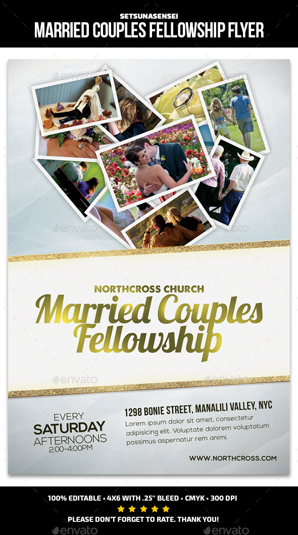 Married Couples Fellowship Church Flyer - Church Flyers