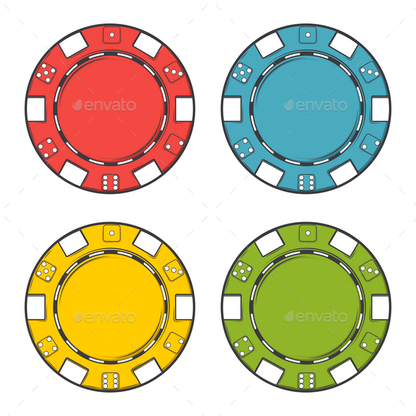 Casino Chips Set - Business Conceptual