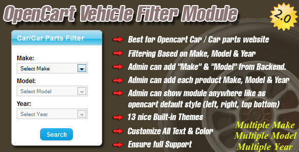 opencart vehicle filter module - CodeCanyon Item for Sale
