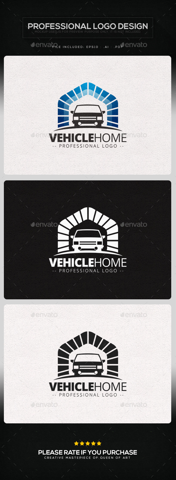Vehicle Home Logo Template - Objects Logo Templates