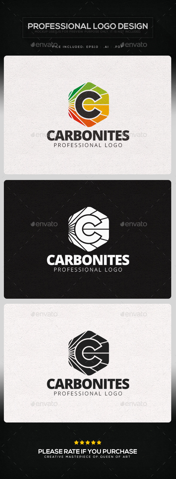 Carbonites Logo Template - Letters Logo Templates