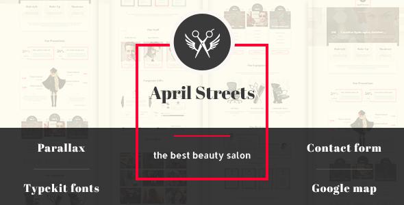 April Streets- Hair, Spa, Manicure – Muse Template