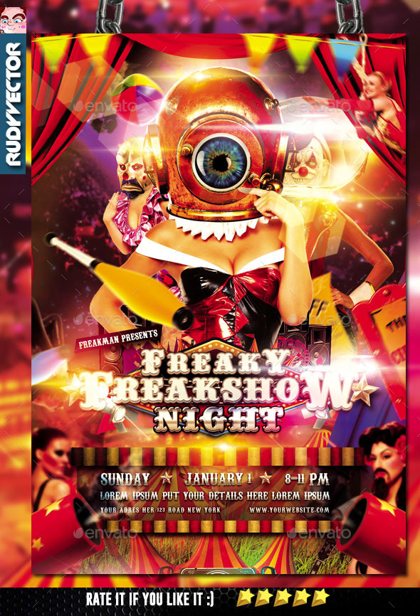 Carnival Freakshow Flyer - Events Flyers