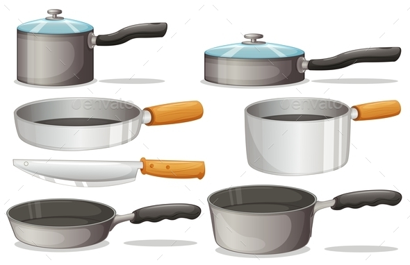 Cooking Equipments - Objects Vectors