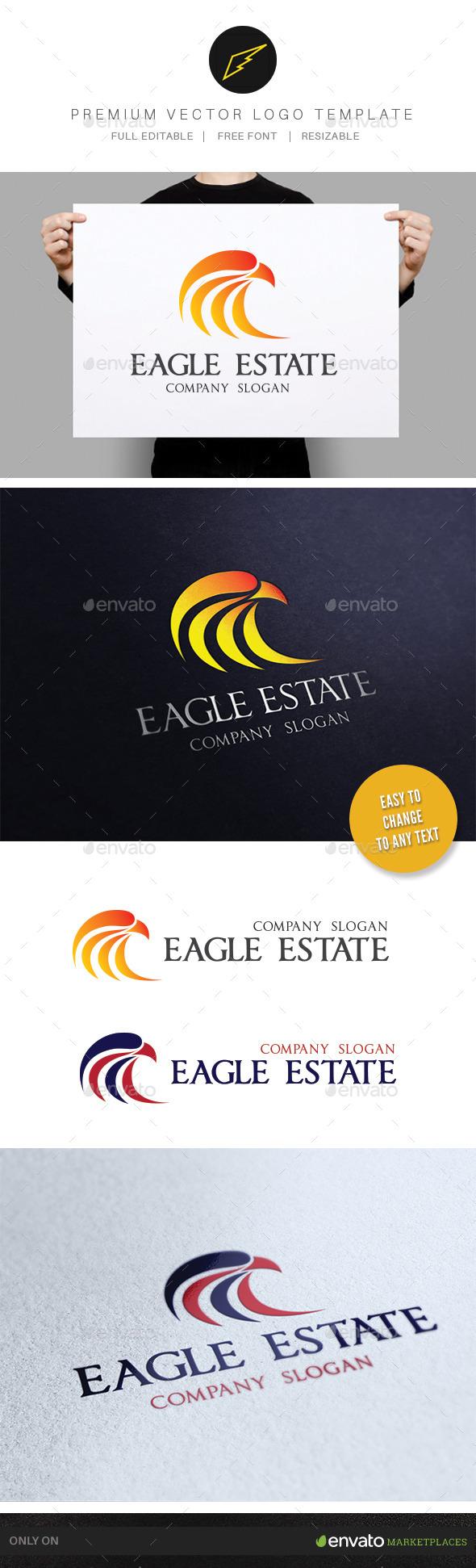 Eagle Real Estate  - Animals Logo Templates