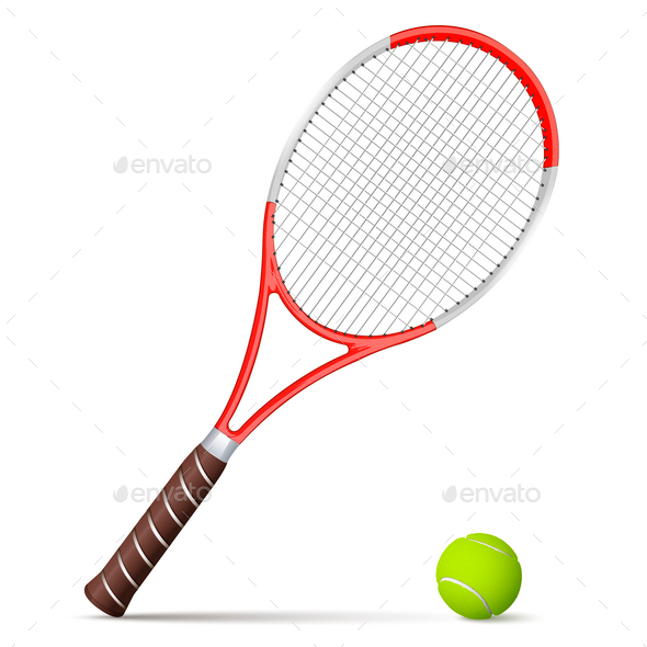 Tennis Racket and Ball - Sports/Activity Conceptual