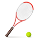 Tennis Racket and Ball - GraphicRiver Item for Sale