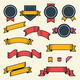 Set of Vintage Ribbons and Labels - GraphicRiver Item for Sale