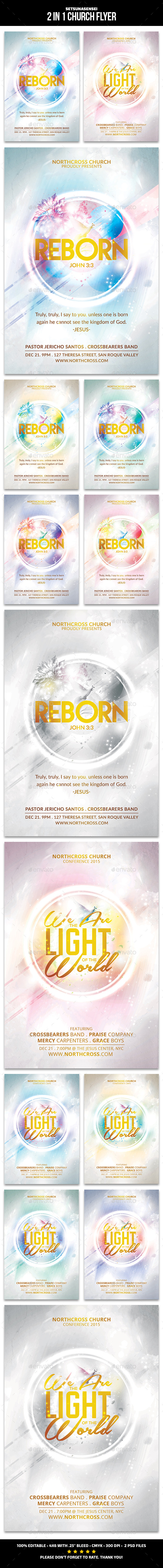 Reborn Church Flyer - Church Flyers