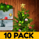 Soft Christmas Background 10 Pack - VideoHive Item for Sale