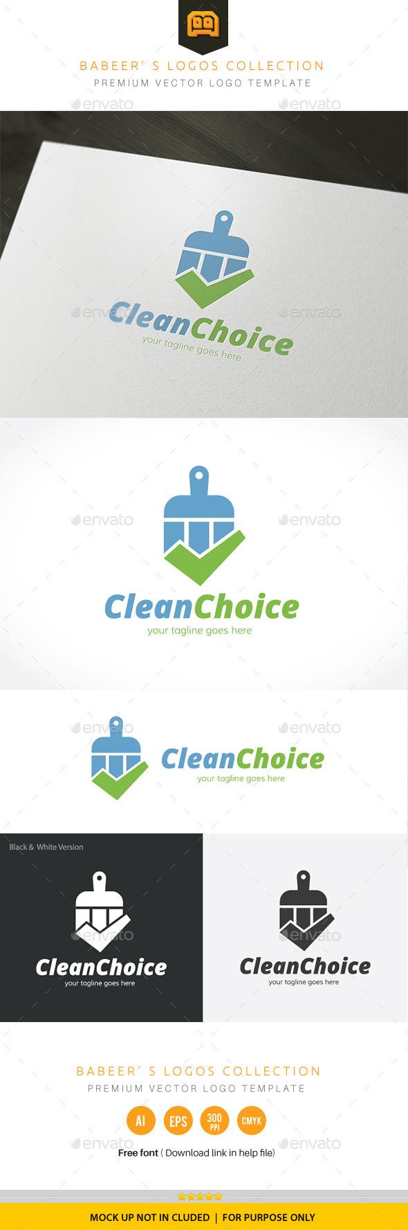 Clean Choice - Buildings Logo Templates