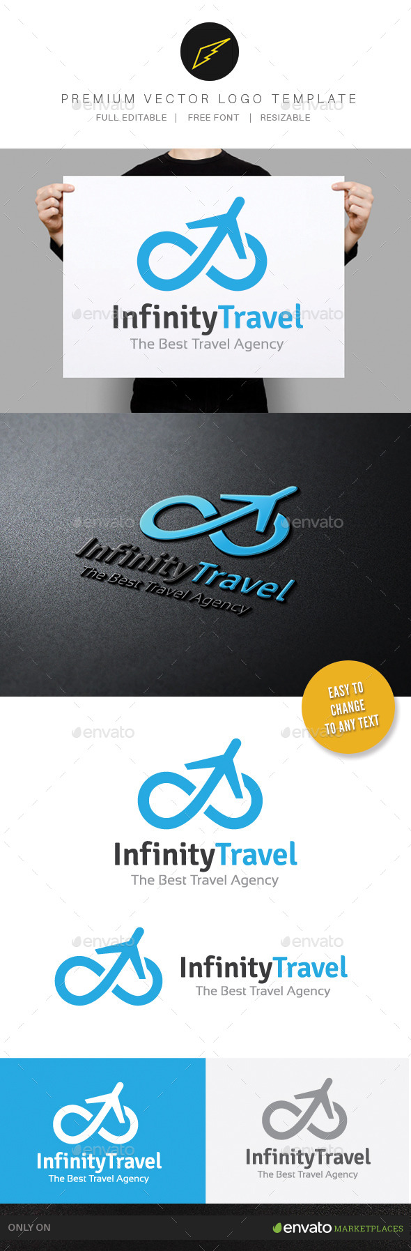 Infinity Travel - Objects Logo Templates