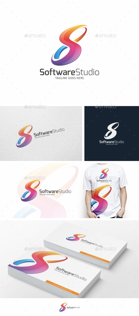 S Letter / Infinity - Logo Template  - Letters Logo Templates